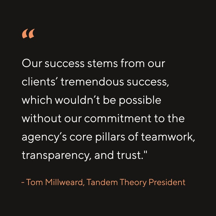 Tandem Theory Celebrates Great Work and Record Agency Growth Amidst a Challenging Year Image